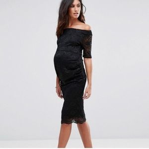 ASOS maternity black dress. Size 6p